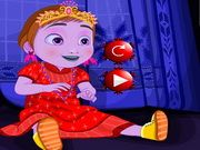 Baby Anna's Christmas Dressup