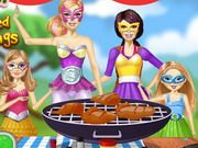 Barbie Family Cooking Barbecued BuffaloWings