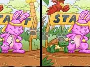 Bunny And Turtle: Spot The Difference