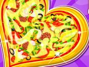Delicious Heart Pizza