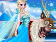 Rudolph And Elsa In The Frozen Forest