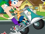 Phineas And Ferb: Crazy Motocycle