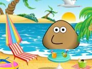 Pou At The Beach
